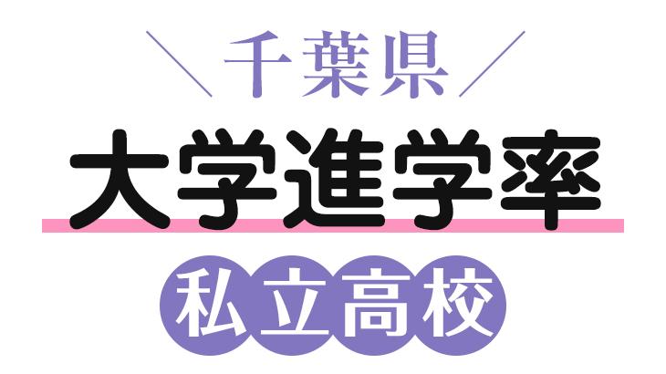 千葉県私立高校大学進学率